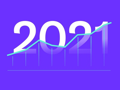 DocSend: 2021 Graph statistics stats groth year illustration docsend 2021 chart graph