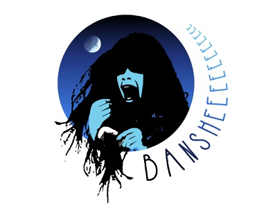 Mythical Maidens: Banshee woman cry wailing wail folklore myth mythical banshee logo