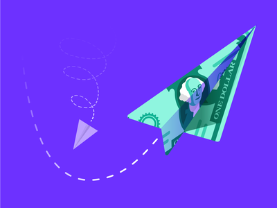 DocSend: Taking Off (Paper Plane) fly docsend funding dogfight competition plane sky technology illustration dollar bill startup money paper plane dollar
