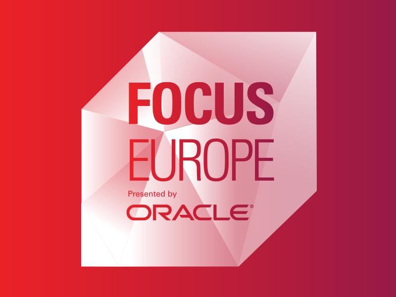 OOW Focus logo: Gem typography emerging tech oracle logo