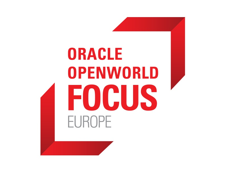 OOW Focus logo: Finger cropping icon technology emerging technologies typography oracle emerging tech branding logo