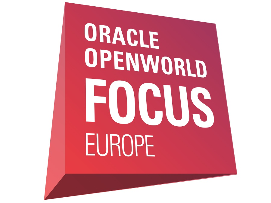 OOW Focus logo: 3D design emerging technologies technology typography oracle emerging tech branding icon logo