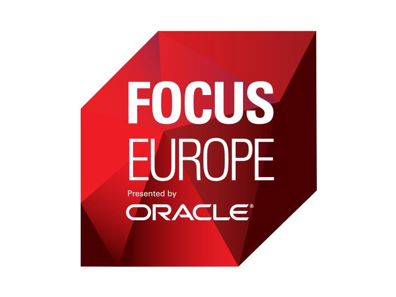 OOW Focus logo: Gem design emerging technologies technology typography emerging tech oracle icon branding logo