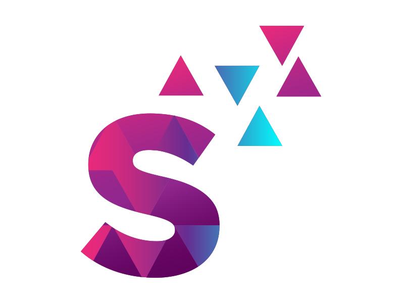 Sassy Method (Metamorphosis S) metamorphosis bold triangles typography branding logo