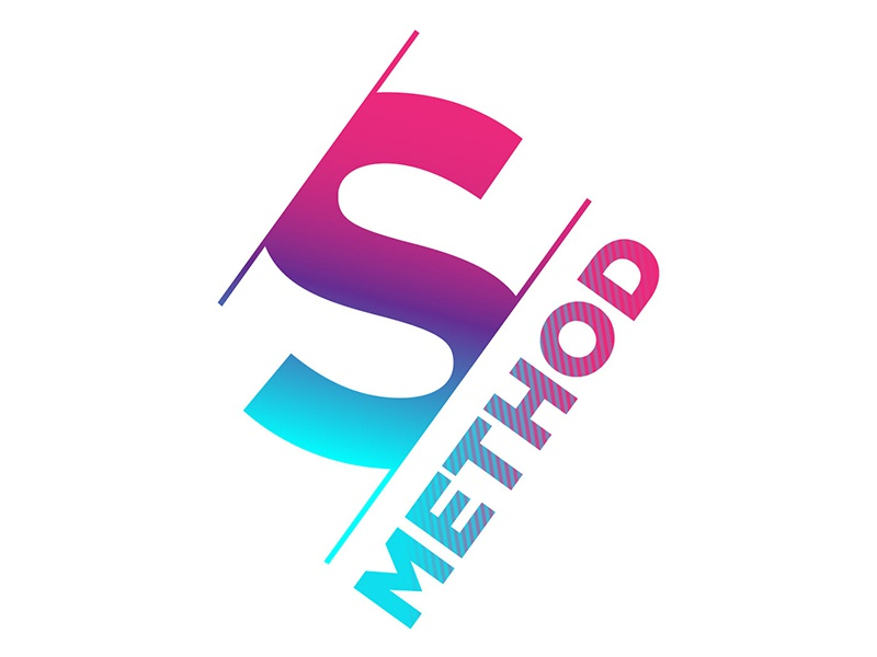 Sassy Method Double Cut S method life coach career coach neon angular bold sassy typography branding logo