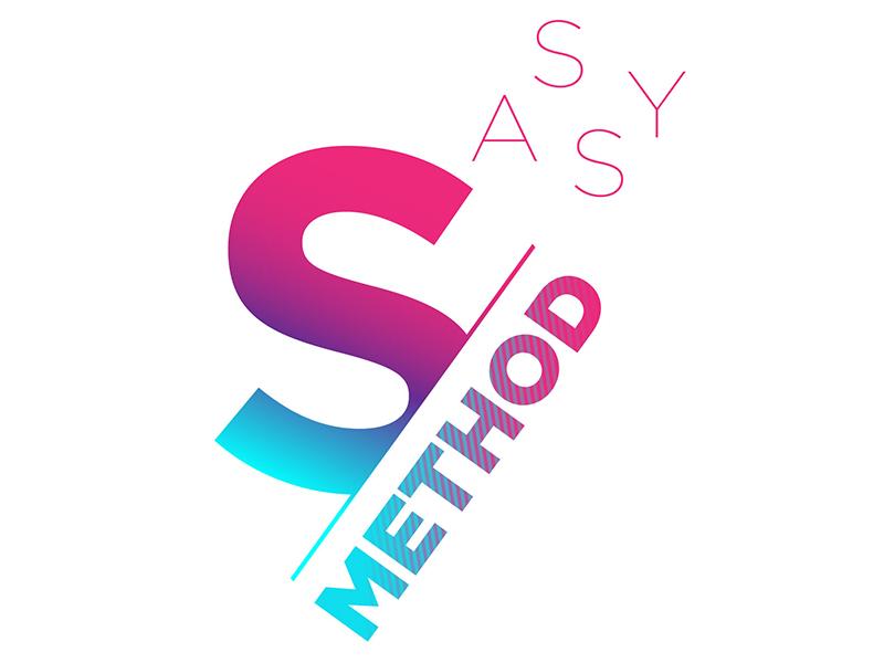 Sassy Method (Chosen concept) cut type gotham life coach career coaching bold sassy typography branding logo