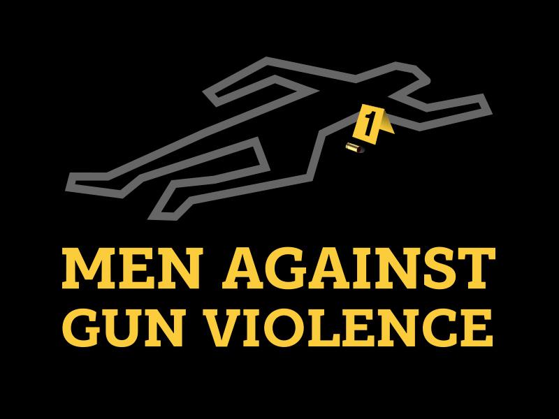 Men Against Gun Violence body shootings gun gun violence icon branding logo