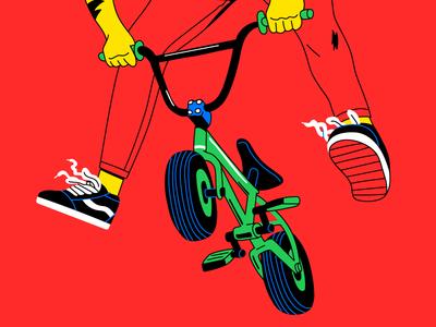 BMX vans ollie jump bicycle bmx