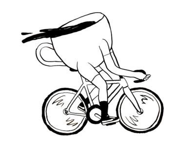 Coffee Rider fun ride vans bike gear fixed coffee