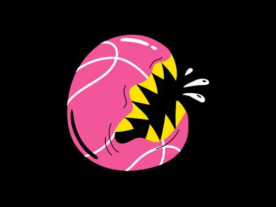 Basketball Chomp crunch chomp basketball hungry