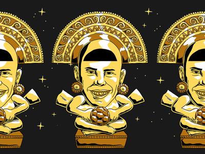 Golden Ronaldo god mayan brazil football futebol soccer cup world golden ronaldo