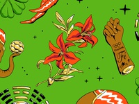 Lucky Charms pattern shirt brazil football futebol soccer cup world golden flower