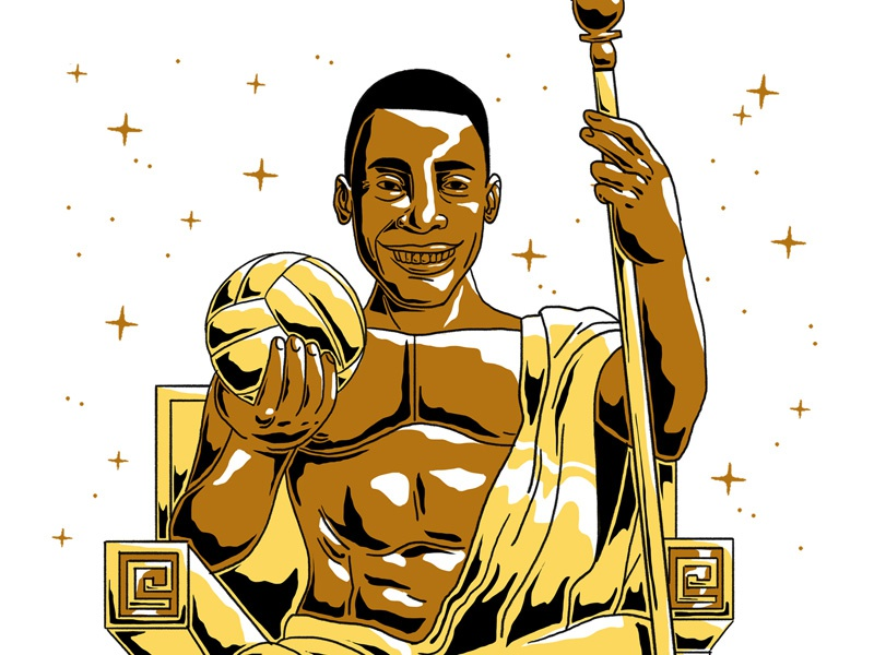 Golden Pelé god greek brazil football futebol soccer cup world golden pelé