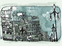 City Illustration II (Gloomy)