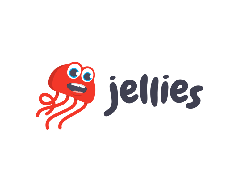Jellies Logo ios smile sam kids identity illustrator apps app typography icon savvy apps savvy branding design illustration logo