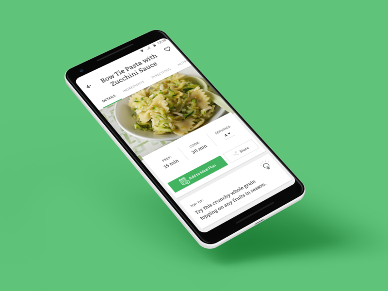 No Kid Hungry for Android dinner food ingredients green nkh savvy apps savvy enterprise ux recipe recipes cooking android app design android app android identity design branding apps app