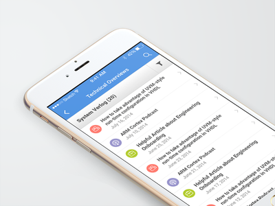 Technical Overviews App mobile learning mobile ios