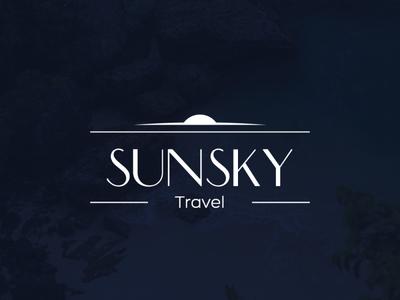 logo sundance travel branding icon design illustration vector logo
