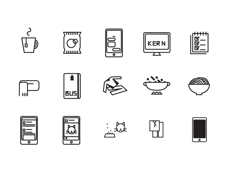 everyday 2/2 daily simple life icons
