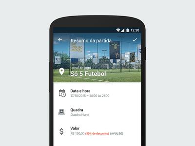 Venue Booking Confirmation   Android App