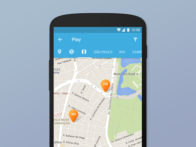 Venue Booking Map   Android App