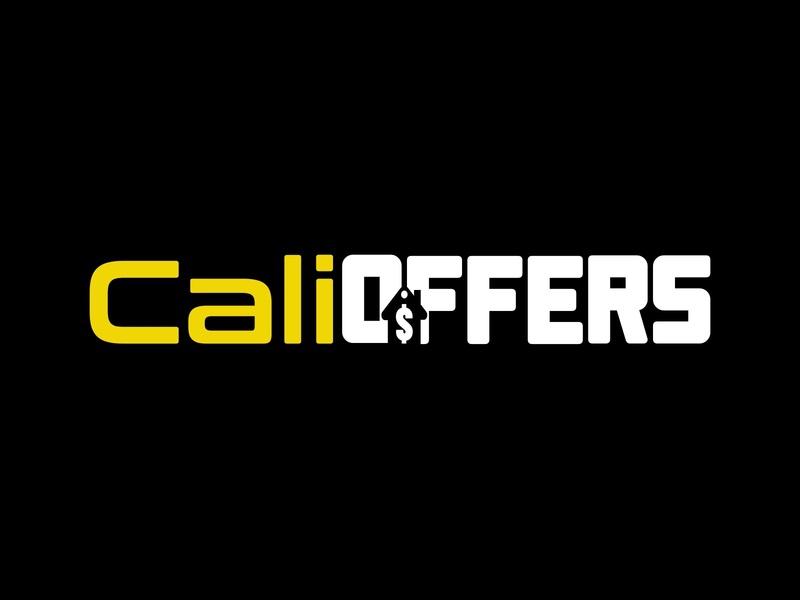 CaliOffers negative space house white yellow design logodesign logo real estate realestate realty offers buy house