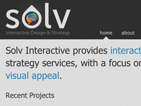 Solv Interactive site mock