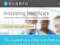 Evaero Home Page Concept