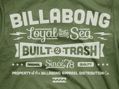 Billabong typetee green