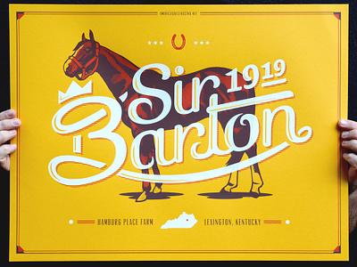 Sir Barton 1919 Poster sir barton halftone def