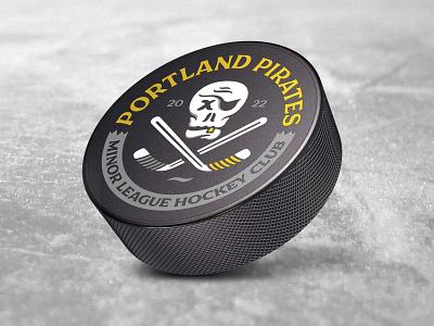 Portland Pirates - Minor League Hockey Club - Merch merch puck skull pirates portland pirate minor league hockey halftonedef illustration halftone def