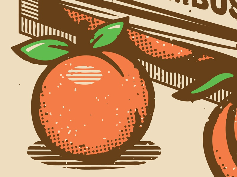 Peaches and Cream! halftone def creative south vintage