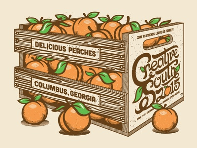 Creative South 2015 Poster creative south halftone def peaches prints