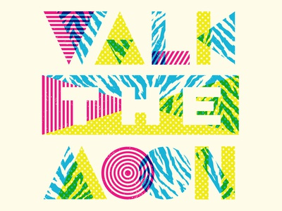 Different Colors - Walk The Moon walk the moon shapes halftone def 80s music