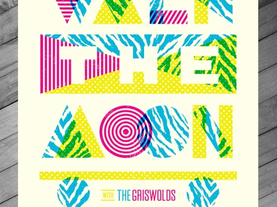 Walk The Moon Poster - Ft. Lauderdale 4.27.15 walk the moon shapes halftone def 80s music