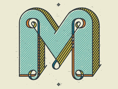 Type Fight - Letter M tron letter m type fight halftone def