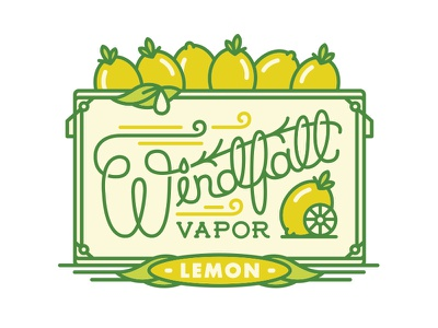 Windfall Vapor Fruit - Lemon halftone def delicious juicy vapor fruit