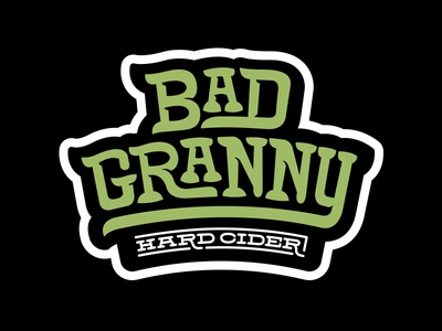 Bad Granny Hard Cider Branding - Stacked Logo halftone def studios packaging branding beer cider bad granny