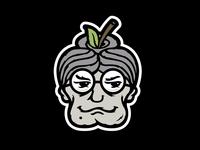 Bad Granny Hard Cider Branding - Apple Head Icon