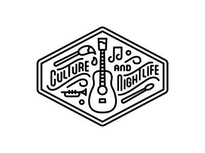 Culture and Nightlife Patch - 5280 Magazine editorial illustration monoline best of denver 5280 magazine patch halftone def