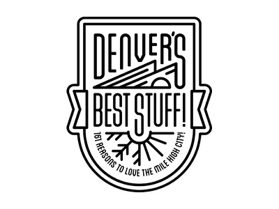 Denver's Best Stuff! Cover Patch - 5280 Magazine editorial illustration monoline best of denver 5280 magazine patch halftone def