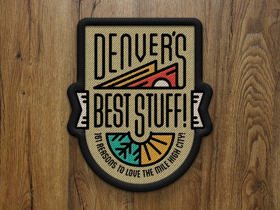 Denver's Best Stuff! Cover Patch - 5280 Magazine editorial illustration monoline best of denver 5280 magazine patch halftone def