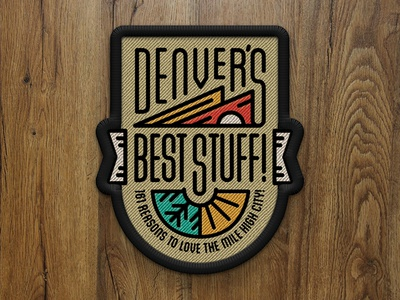 Denver's Best Stuff! Cover Patch - 5280 Magazine