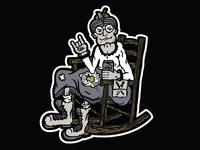 Bad Granny Hard Cider Character Illustration