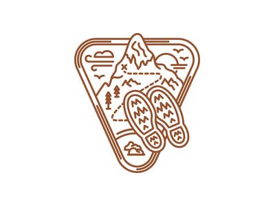 5280 Magazine Adventure Issue Pike's Peak Icon icon badge mountains type monoline colorado florida editorial illustration 5280 magazine halftonedef