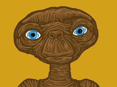 E.T. Illustration on iPad Pro fun 1980 eighties florida movies apple pencil ipad pro procreate illustration e.t. halftonedef