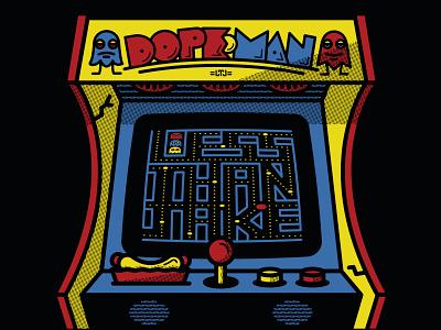 Less Than Jake Dopeman Arcade Gigposter 80s jacksonville retro illustration arcade screenprint gigposter less than jake halftone def