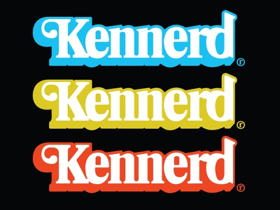 "Kennerd ""Toy Nerd"" Logo Mashup 80s boxes packaging toys star wars kenner m.a.s.k."