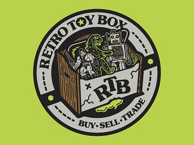Retro Toy Box Branding / Illustration vintage toys badge logo design 80s illustration florida halftone def