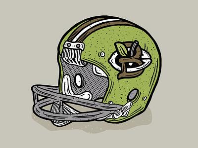 Vintage Football Helmet Illustration monogram helmet go team football illustration halftone def